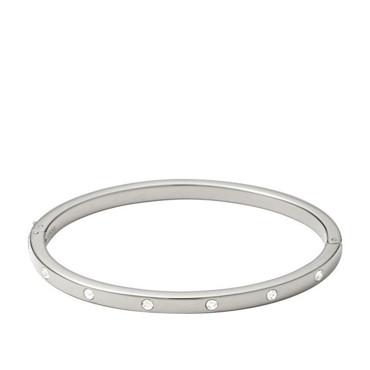 Bracciale rigido con cristalli #FOSSIL Jewels - #ororagioiellerie