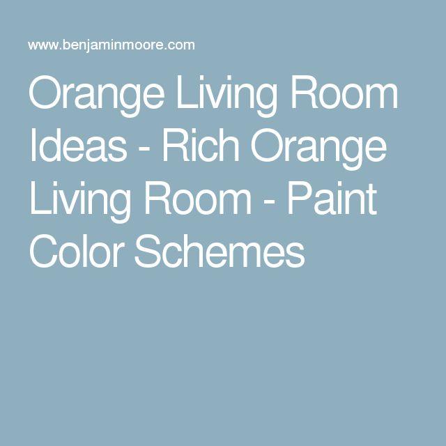 Orange Living Room Ideas - Rich Orange Living Room - Paint Color Schemes