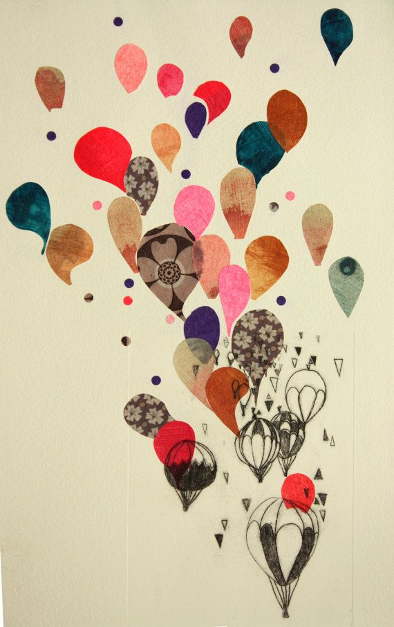 Best Whole World #HotAirBalloons #Drawing #Whimsy