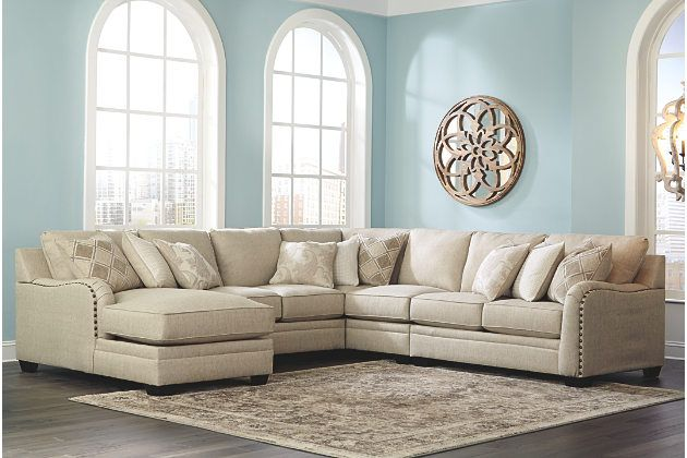 Luxora 5 Piece Sectional With Chaise Ashley Furniture Homestore Grey Sectional Sofa Fabric Sectional Sofas Sectional Sofa With Recliner