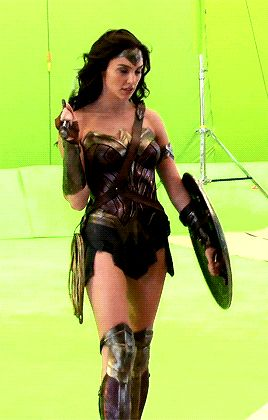 "dcmultiverse: ""Gal Gadot behind the scenes of Batman v Superman (2016). """
