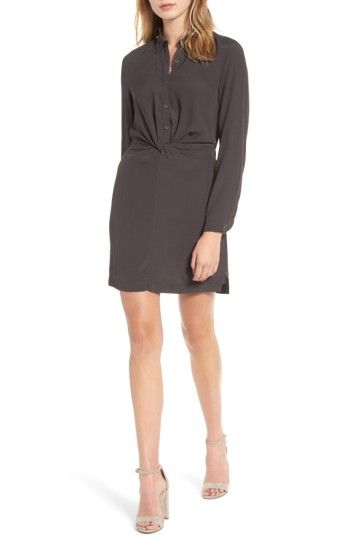 Free shipping and returns on Lush Twisted Shirtdress at Nordstrom.com. Cleverly knotted at the waist to create a flattering fit, this breezy shirtdress will take you from desk to dinner in comfort and style.