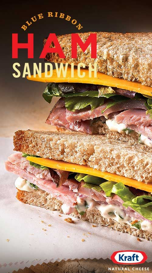 It's in the name. Our Blue Ribbon Ham Sandwich is a winner. A collection of star ingredients like fresh basil, garlic mayo and slow-cooked ham are accented by a golden slice of tangy KRAFT sharp cheddar cheese to create an epic sandwich for epic lunches.