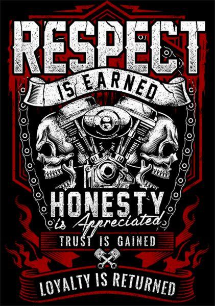 Respect Is Earned Skull & Engine