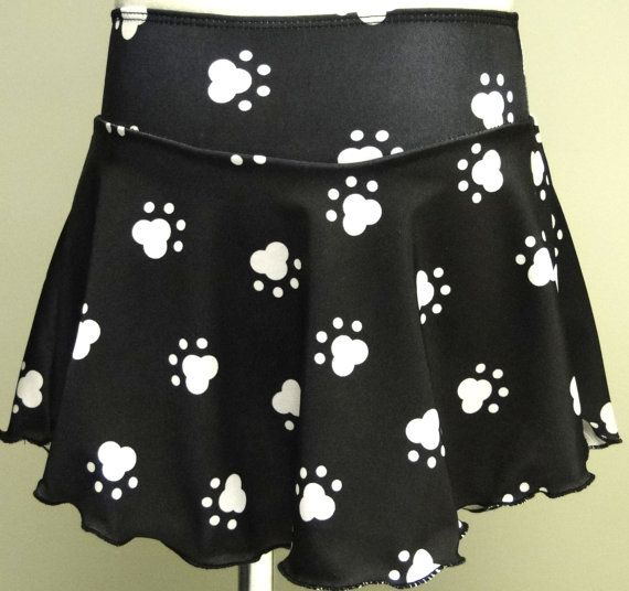 Puppy Paw Print Figure Skating Skirt by Sk8 Gr8 Designs