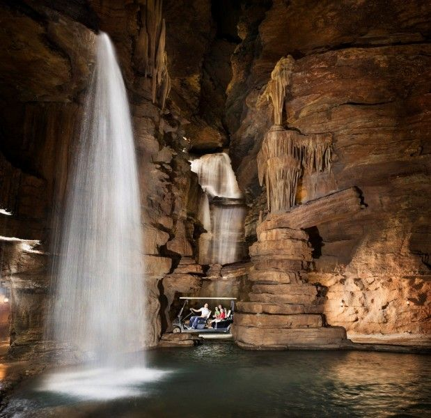 A scenic tour above Table Rock Lake by golf cart (or hiking) is now available at the Lost Canyon Cave & Nature Trail at Top of the Rock just south of Branson in Ridgedale, Missouri. Image courtesy of Big Cedar Lodge.
