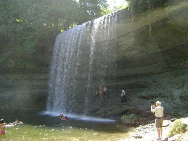 Another view of the water falls
