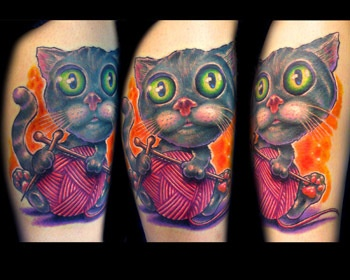 Cool kitten tattoo. #tattoo #tattoos #ink