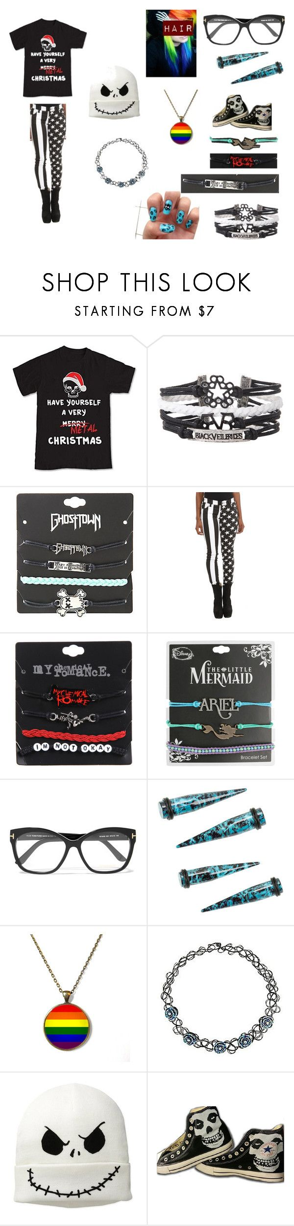 Have a Very Merry Metal Christmas by emo-mack on Polyvore featuring Tripp, Disney, Converse, Hot Topic and Tom Ford