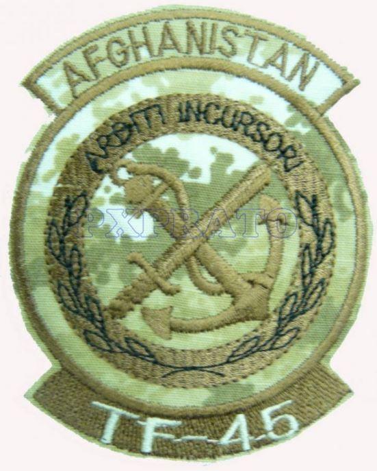Patch Missione Arditi Incursori Marina TF45 Afghanistan Mimetica Vegetata Desert