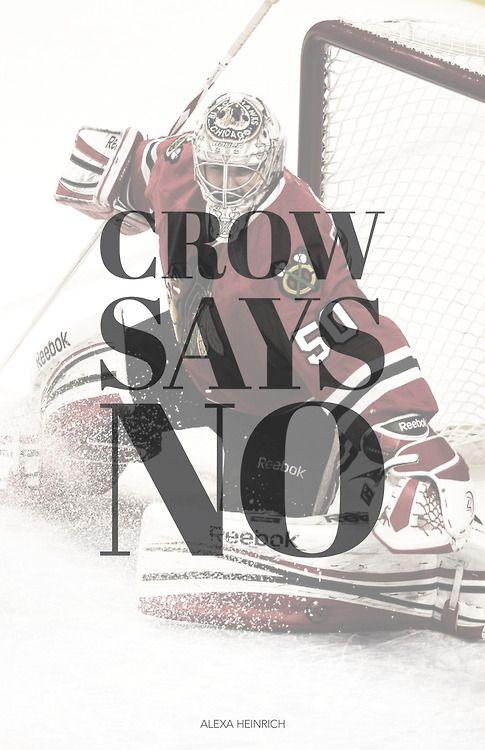 I love our goalie. Go Blackhawks!