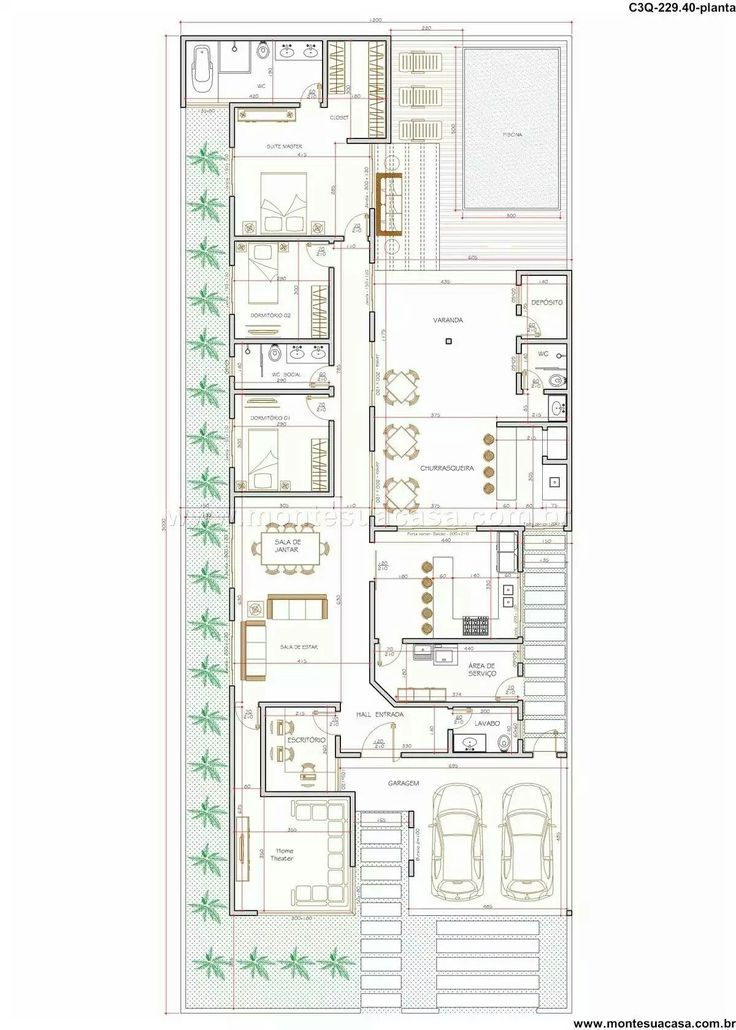 77 best Planos images on Pinterest Architecture, Floor plans and