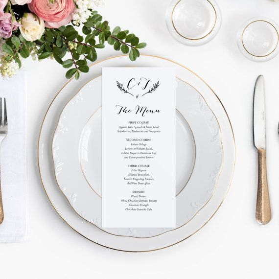 13 best Wedding Menus images on Pinterest Wedding menu cards - wedding template