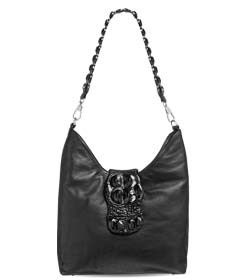"""Chimpel """"MARY-ANN"""" Crocodile leather Slouch Handbag. Soft leather with crocodile leather flap and handle. Cape Town, South Africa"""
