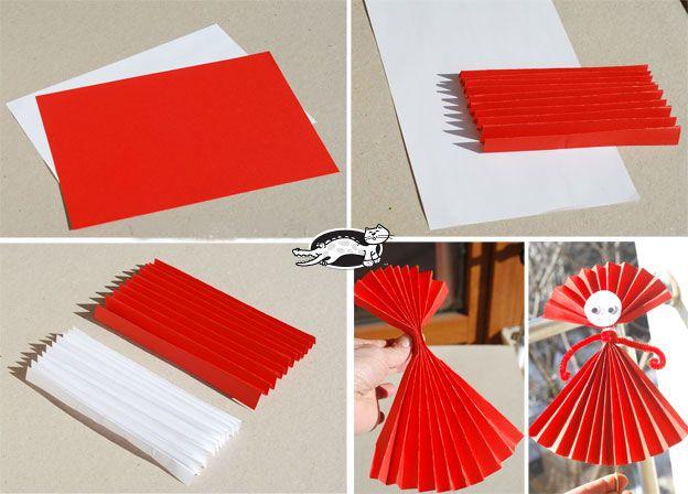 Поделки из бумажных гармошек