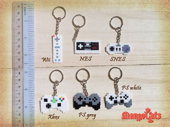 Game controller hama bead sprite Wii NES SNES Xbox PS by MangoCats
