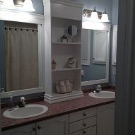Large Bathroom Mirror redo to double framed mirrors and cabinet#1025680/large-bathroom-mirror-redo-to-double-framed-mirrors-and-cabinet?&_suid=1363484213643009300518238664651