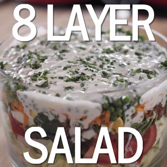The Pioneer Woman's 8-Layer Salad will blow your guests away!