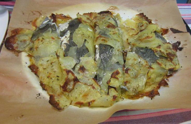 Rombo in crosta di patate