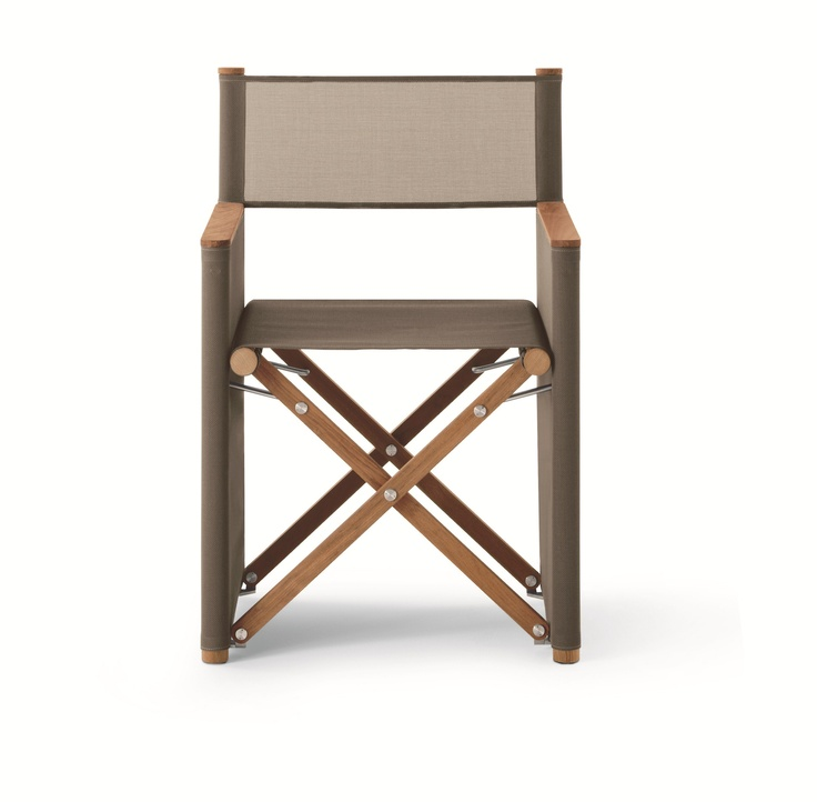 Roda Orson 001 Outdoor Foldable Chair In Teak Structure And Canatex Net  #outdoorfurniture #gardenfurniture