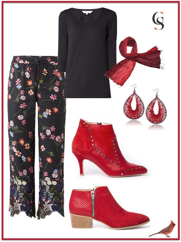 Red booties Cardina (flat) en CS by Sandra (queeny)