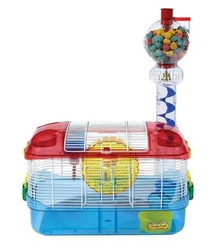 CRITTERTRAIL-HAMSTER-GERBIL-HABITAT-CAGES-ONE-LEVEL-PINK-EXTREME-DAZZLE
