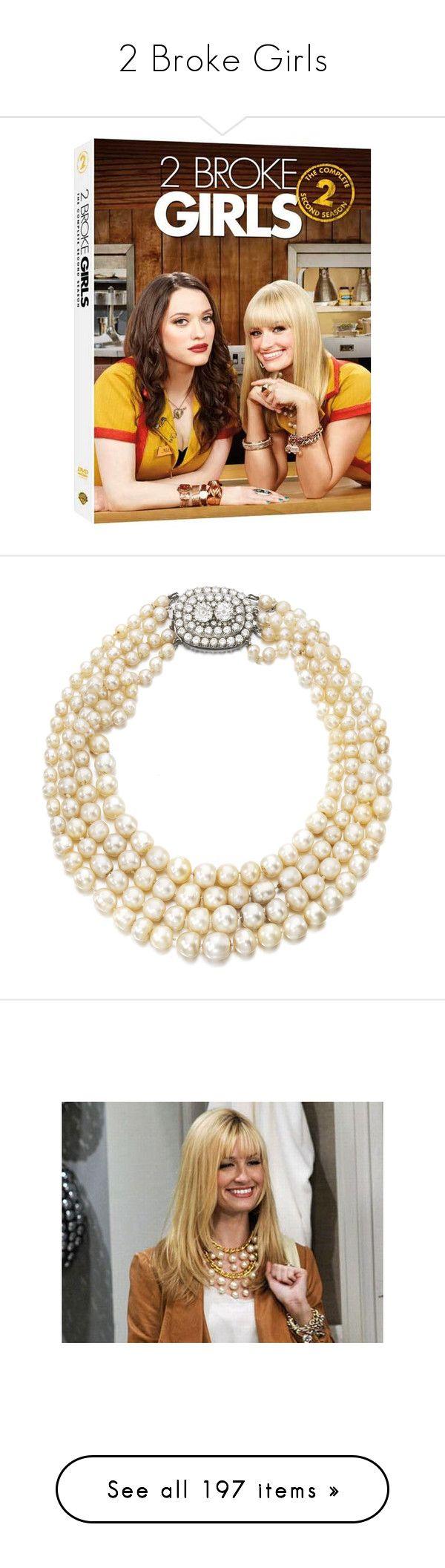 """2 Broke Girls"" by styleskater7 ❤ liked on Polyvore featuring Max, Caroline, 2 broke girls, jewelry, necklaces, colar, fresh water pearl jewelry, pearl jewelry, freshwater pearl necklace and white pearl necklace"