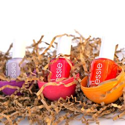 Fill plastic Easter eggs with coordinating nail polish. Great Easter gift for me @Christine Lynch