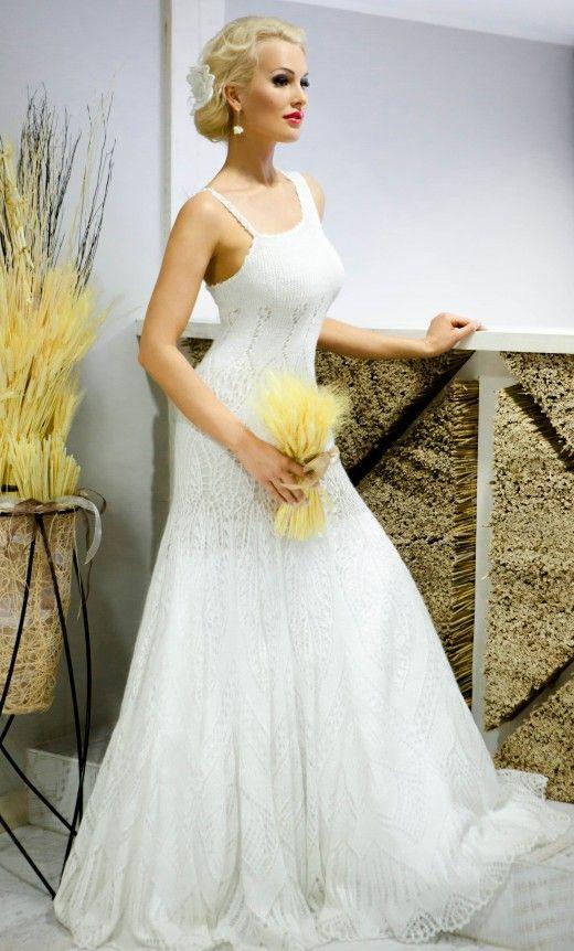 crochet wedding dress, pretty
