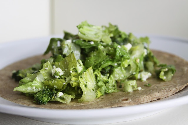 Chopped lettuce wrap