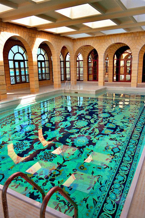 Amazing use of tile! Craig Bragdy ceramic tile swimming pool
