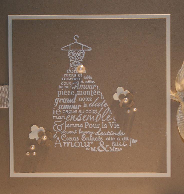 Faire-part de mariage « Robe à mots doux » - Marie Claire Idées