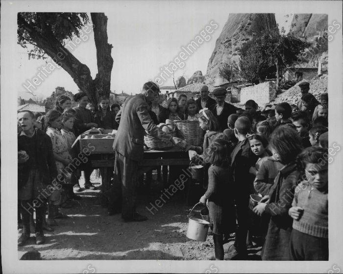 1946 Young Children UNRRA WWII Kalabaka Greece Press Photo