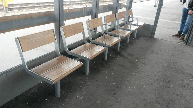 Exkluderande bänk Uppsala centralstation