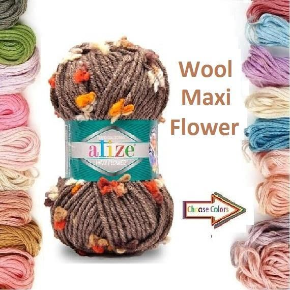 Check out this item in my Etsy shop https://www.etsy.com/listing/498335233/alize-maxi-flower-yarn-wool-yarn-super
