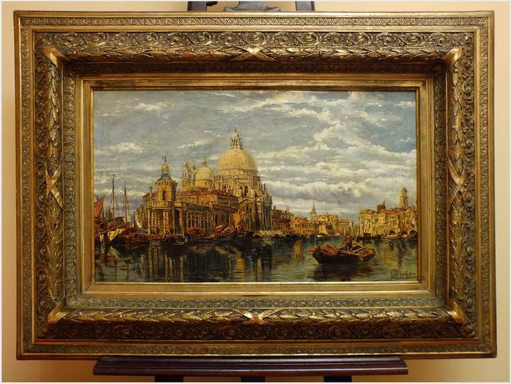 VENICE, VIEW OF GRAND CANAL AND THE BASILICA SANTA MARIA DELLA SALUTE  - Karl Kaufmann (Österreich,  1843–1901/05)