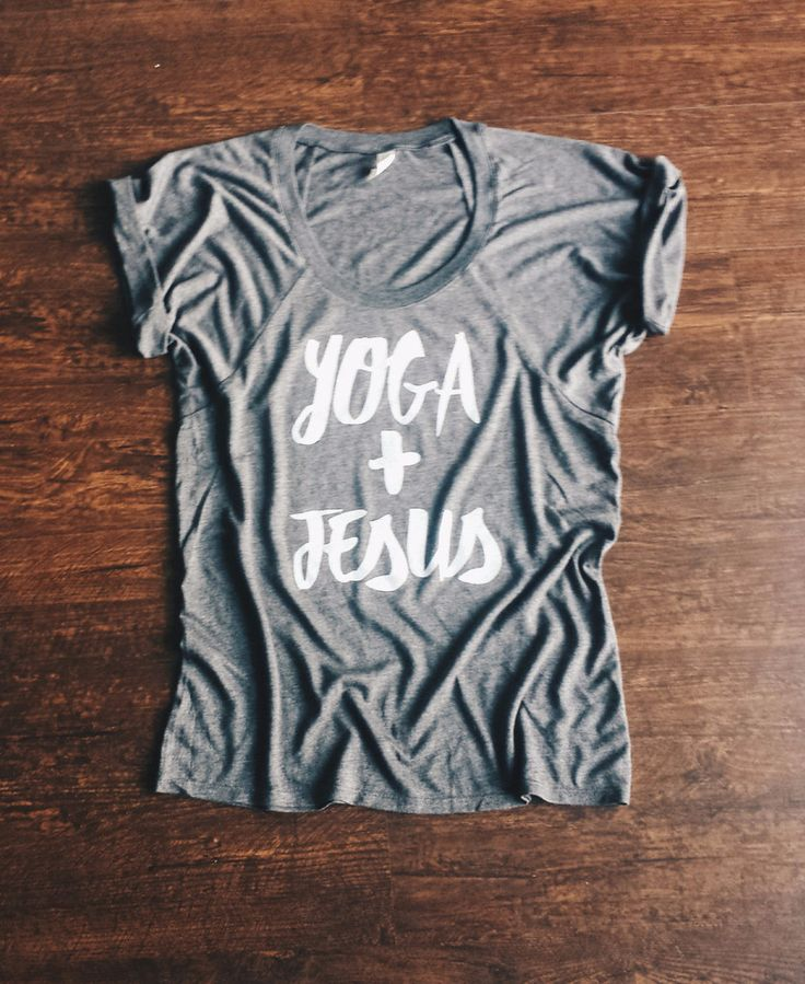 We hope you love yoga and Jesus as much as we do! This tank has a flowy fit and perfect to lounge around in, mousey around town or even rock out those yoga poses! SIZING: We recommend selecting your t