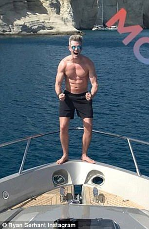 Million Dollar Listing star Ryan Serhant, 32, is island-hopping in Greece