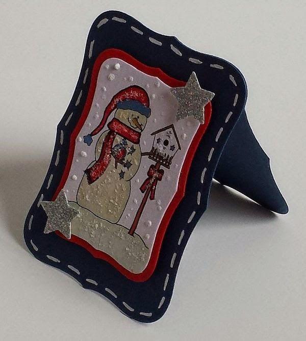 Shaped Cards,  Spellbinders, Digi-Stamps, Sweet'n Sassy Stamps, Snowman