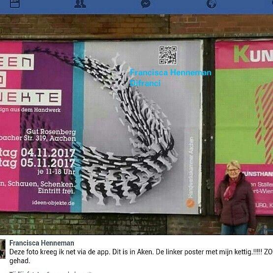 Billboard in Aken. 4 en 5 nov. IDEEN UND OBJEKTE , Gut Rosenberg, Aken  DIFRANCI sieraden