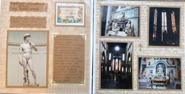 Scrapbook: Europe Vacation: Florence/Firenze, Italy