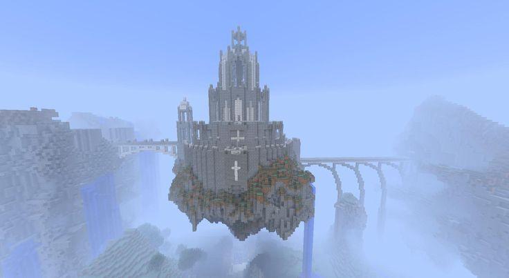 Sweet Minecraft castle in the sky.