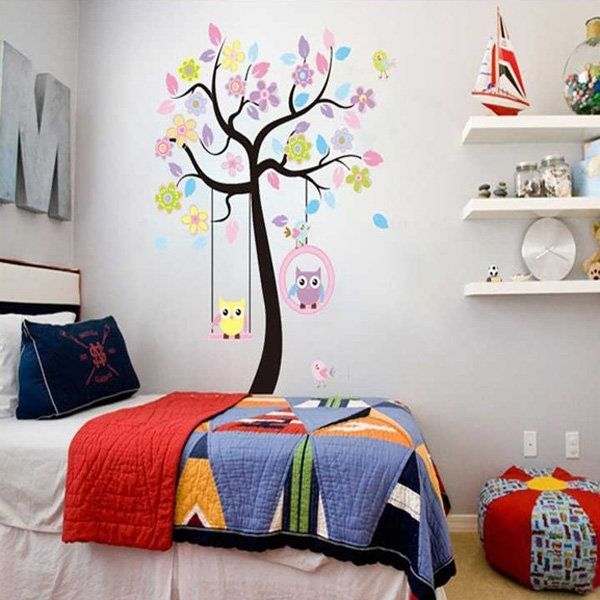 Owls On the Swing Colourful Tree PVC Removable Wallpaper 78AB http://www.ebay.co.uk/itm/Owls-On-the-Swing-Colourful-Tree-PVC-Removable-Wallpaper-78AB-/252463995546?hash=item3ac806da9a:g:090AAOSwARZXioPp