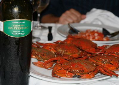 """Restaurante d'Berto, O Grove (Galicia) D'Berto specializes in simply prepared but sensational crustaceans, mollusks and fish from the beautiful Rías Baixas (lower fjords) of the northwestern region of Galicia: cigalas (Dublin Bay prawns), langostas (spiny, clawless lobsters), camarones (small, succulent shrimp), vieiras (scallops with their orange coral) and centollos (big spider crabs). Owner Alberto """"Berto"""" Domínguez's pristine selections are matched by his chef-sister Marisol's spot-on…"""