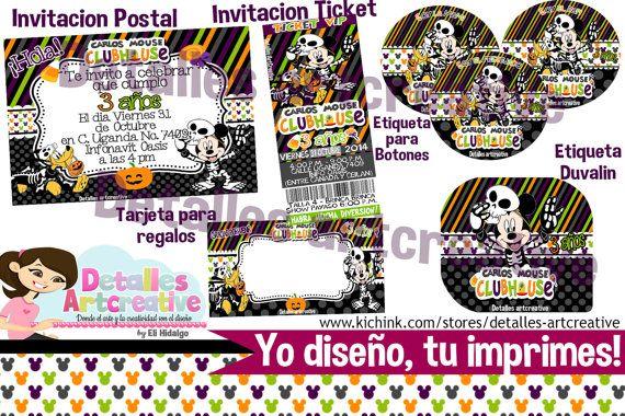 Kit Fiesta Imprimible Mickey Mouse por Detallesartcreative en Etsy