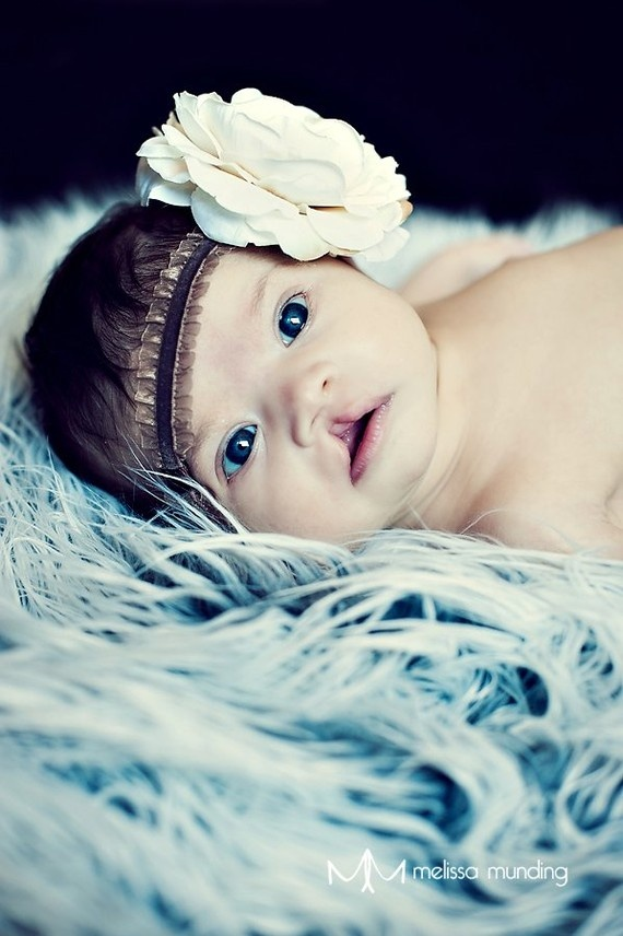 Ok, so I love the headband...but I LOVE that this beautiful little girl with a cleft lip so beautifully featured on this etsy listing. (proudly pinned by a mom to two beauties also born with clefts) :)