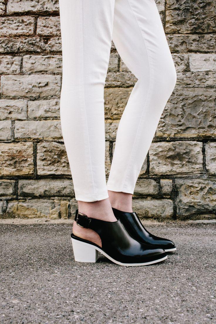 Juniper Sling in Black leather #ClarksOriginals #Womens #Clarks #SS15  #Boots #