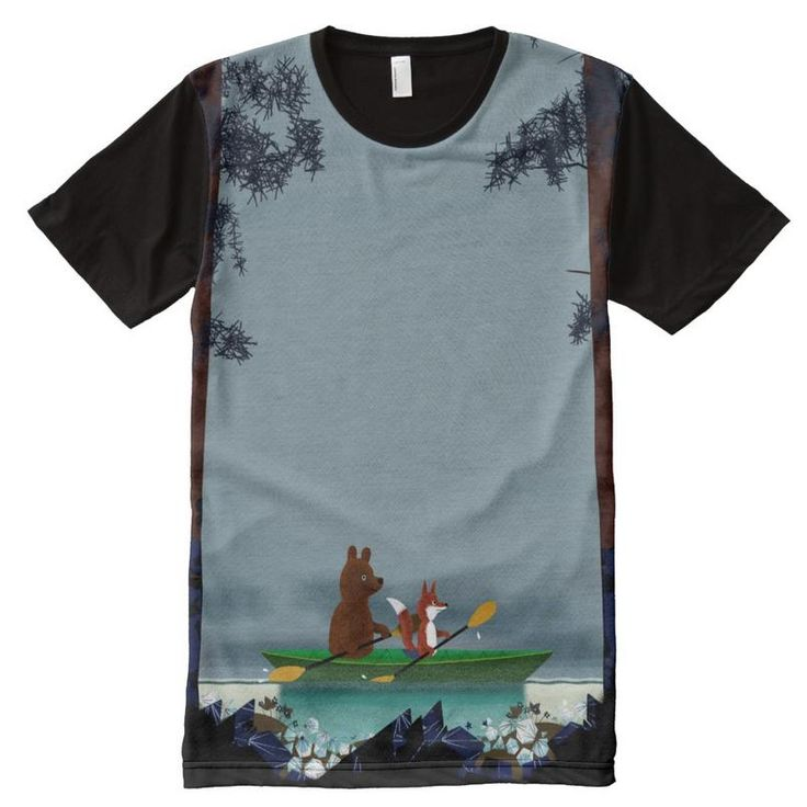 Bear and Fox kayaking All-Over Print T-shirt http://www.zazzle.com/bear_and_fox_kayaking_all_over_print_teeshirt_jakprintspaneltee-256682631278464059?CMPN=shareicon&lang=en&rf=238591529397726390 … #bearandfox #zazzle #tshirt #tshirtdesign