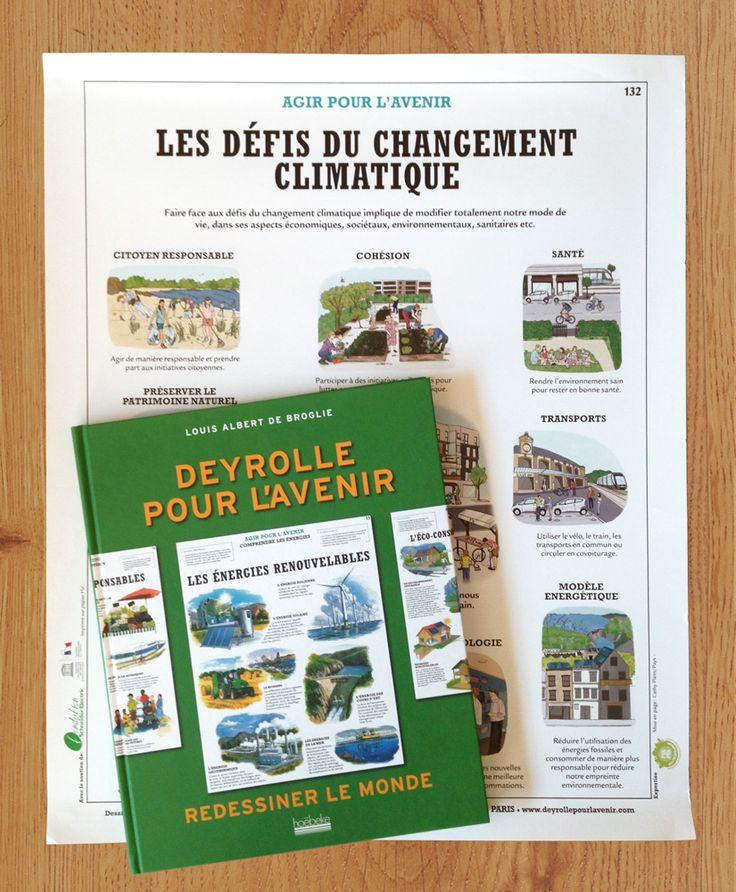 Clémence Monot a dessiné « Les défis du changement climatique » pour le superbe livre « Deyrolle pour l'avenir » de Louis Albert de Broglie aux Éditions Hoëbeke. Êtes-vous prêt à modifier votre mode de vie pour sauver la planète?
