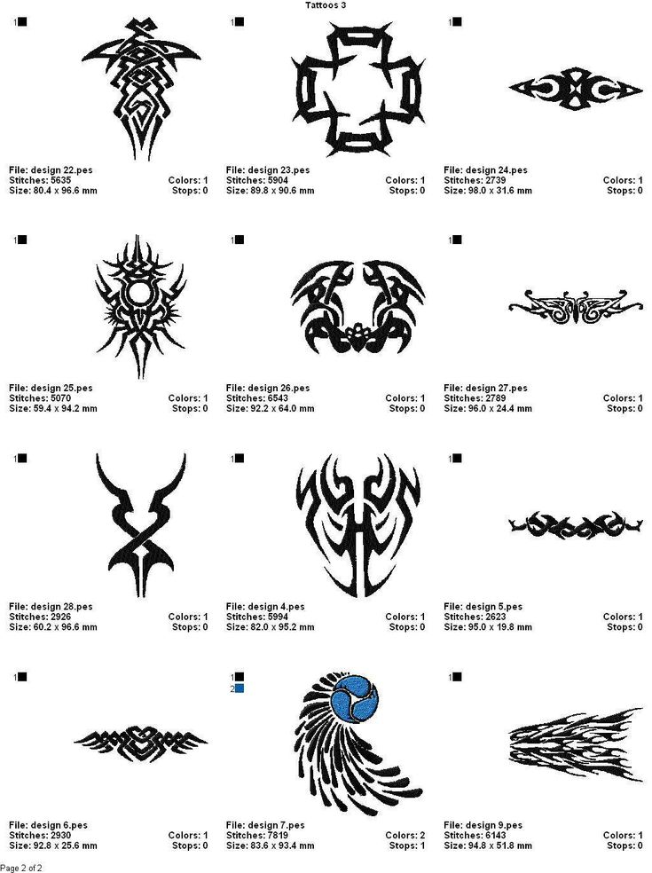 Tattoos 3 color chart 2 tattoo design tattoos for Nordic tattoos and meanings